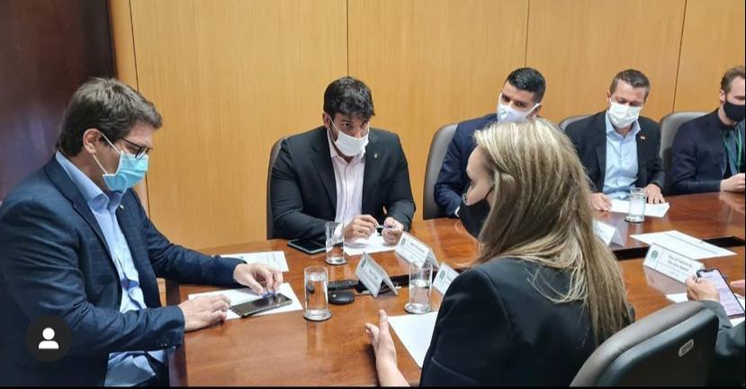 Governadora e Secretário da SAN se encontram com Secretário Especial da Cultura, Mário Frias.